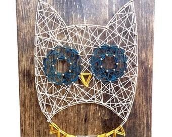 Strring Art Owl, Owl String Art