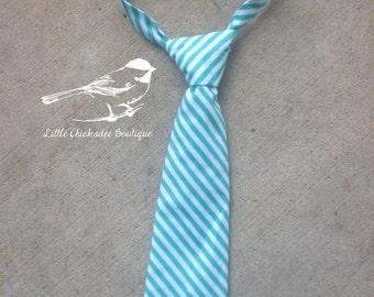 Boys blue Easter tie 6-12M 12-18M 24M/2t 3t 4t 5 6 7 8 Toddler Easter tie Baby Easter tie Infant Easter tie Velcro tie Blue stripes Sunday