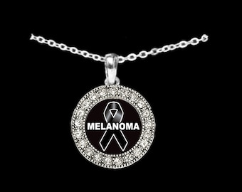 Melanoma Awareness Rhinestone Necklace