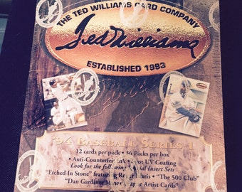 Ted Williams -1994 Baseball Cards Box