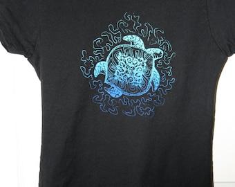 Sea Turtle T-shirt artwork by C. King