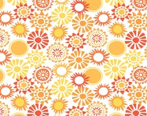 Sunsational - Sunkissed Coral, by Maude Asbury, from blend fabrics, 1 yd