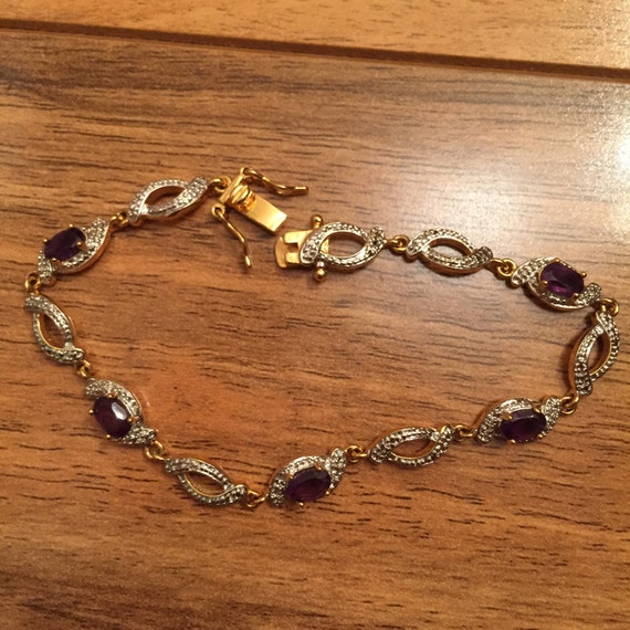 vintage bracelet accent gold and silver tone with