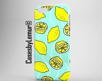 Lemon Iphone 6 case Fruit Print Iphone 5 case Pattern Iphone 5C case Pop Art Iphone 6 plus case Plastic Iphone 5s case Iphone accessories