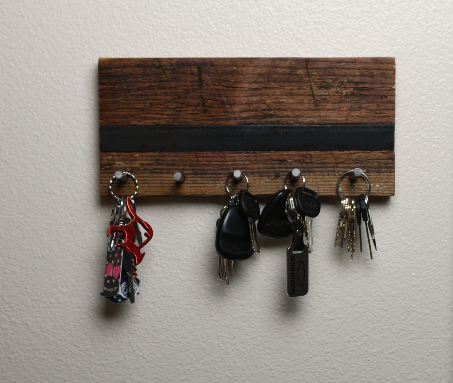 Barn wood key holder - Key racks for wall ...
