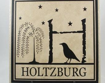Primitive Monogram Plaque - Personalized Primitive - Country Name Plaque - Country Monogram - Country Primitive Plaque - Cabin Decor