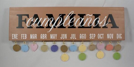 SPANISH FAMILY BIRTHDAY - Familial Cumpleanos - Cumpleanos Calendario - Celebración - Familial Calendario - Familial  Celebracións