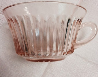 Queen Mary Pink Depression Glass Cup