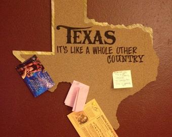 Cork Board  Bulletin Board  Map   Bulletin Board   Texas Bulletin Board   Rustic Cork Bulletin Board