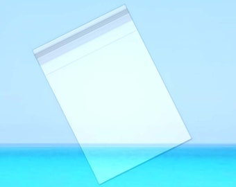 """25 Pack 9""""x12"""" Crystal Clear Bags with RESEALABLE Flap - Optimal Clarity, Durable, Acid Free, Archival Safe, Great for Product, Collectibles"""