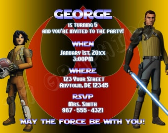 Star Wars Rebels Birthday Invitation - Printable