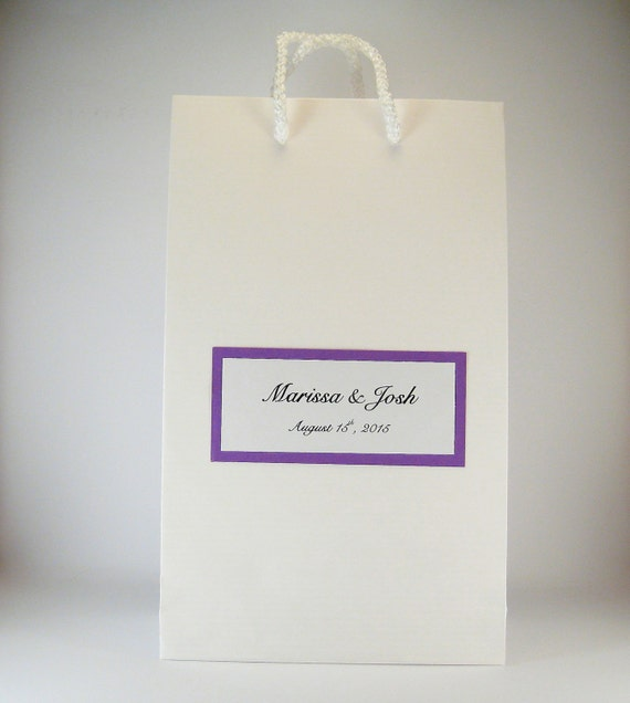 Personalised Wedding Favour Paper Bags : Wedding Favor Bags - 50 Party Favor Gift Bags - White Paper Bags ...