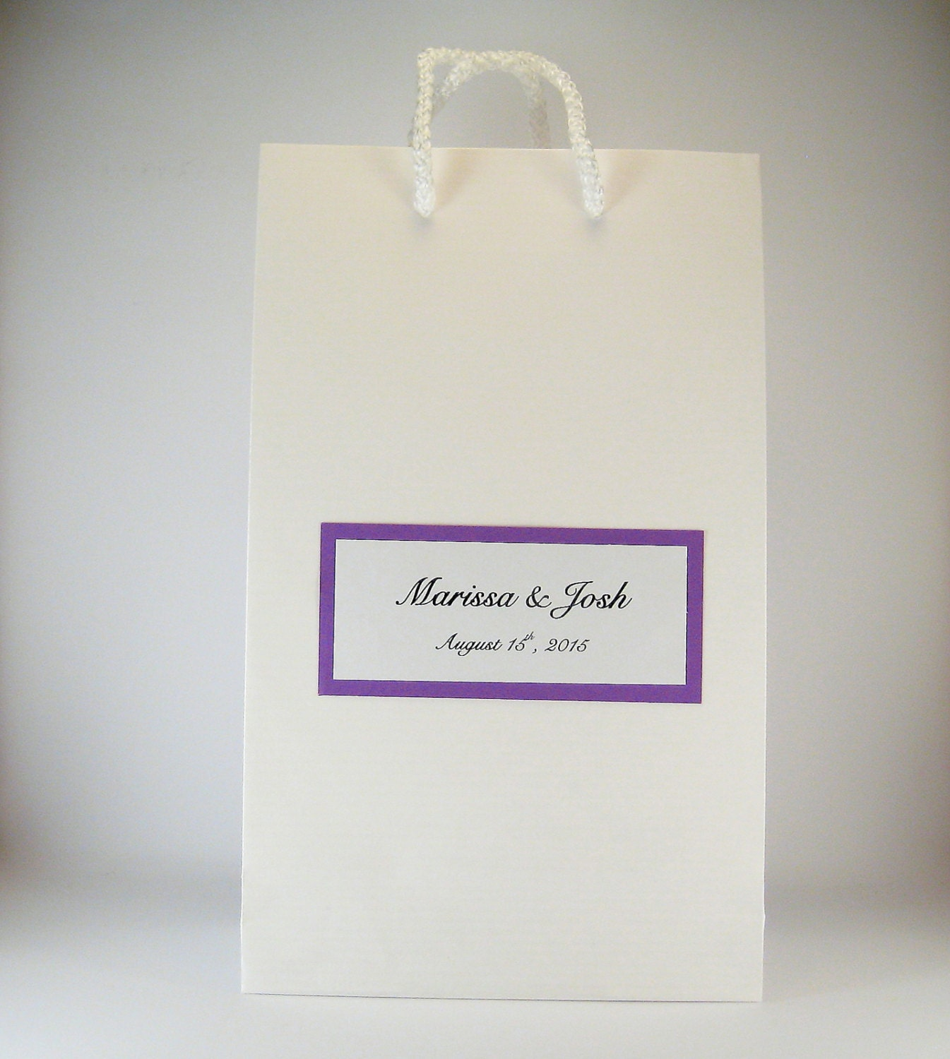 Personalized wedding favor bags 50 party favor gift bags for Wedding favor gift bags