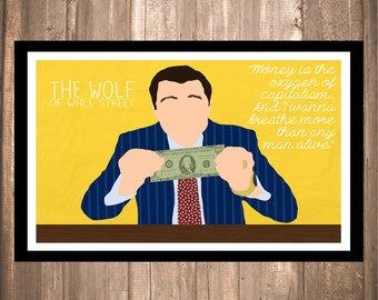 """INSTANT DOWNLOAD - The Wolf of Wall Street """"Money is Oxygen"""" Print"""