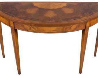 Antique Half Moon Table / Demi Lune