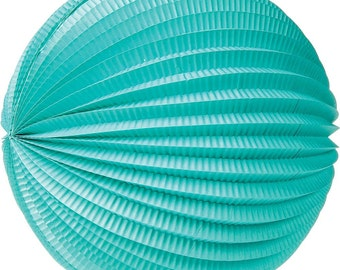 """12 Inch Accordion """"Blue"""" Paper Lanterns for Weddings. Celebrations. Showers. Parties. Events."""