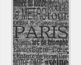 Paris Decor Paris Subway Art - Paris Print - Paris Art - Girl Nursery Art - Paris Nursery Art Print - Paris Nursery Décor - Choose size