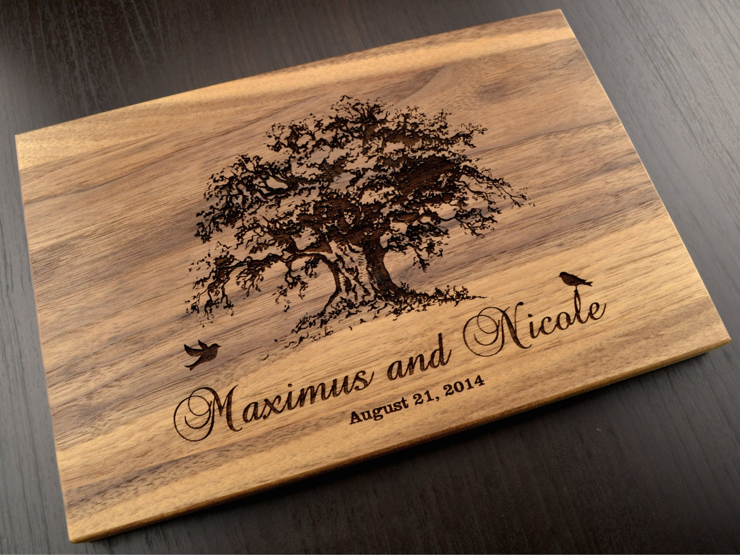 Wedding Gift Ideas For Close Friends: Custom Cutting Board Tree Personalized Wedding Gift