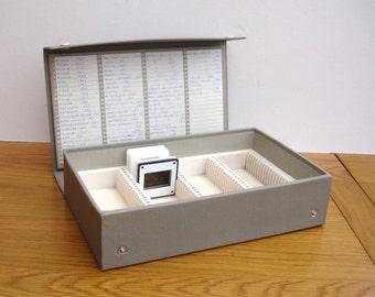 Vintage 35mm Slide Storage Case Index Photographic Slides Vintage Photographic 35mm Negatives Storage Box Photography Family Slides Photos