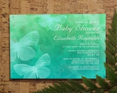 Modern Butterflies Baby Shower Invitation Template, Girl Baby Shower Invitations, Boy Baby Shower Invites, Printable, Digital PDF, DIY