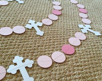 Simple Cross Garland, Baptism Garland