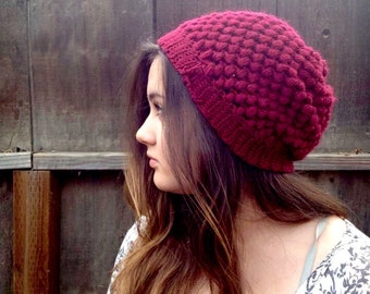 Slouchy beanie, any color, made to order. Usually takes a week to make and send. Rest for men and women.