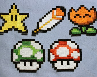 SMW Power Up Embroidered Patch (Choose One or All) Made to Order