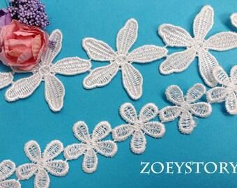 Flower Lace Trim, Bridal Headband Lace Trim, Venise Lace Trim (Z009)