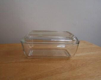 Vintage Arcoroc Clear Glass Refrigerator Dish