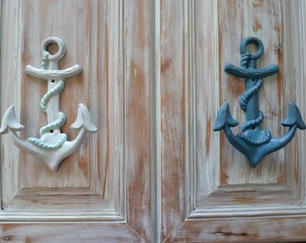 Cast Iron Anchor Hook,Vintage Style, Beach Decor, Nautical Decor,Cottage Chic, Nursery decor, Kids Decor, Nautical Bathroom