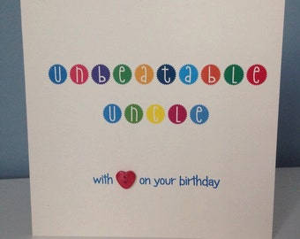 Unbeatable Uncle - with love on your birthday CARD