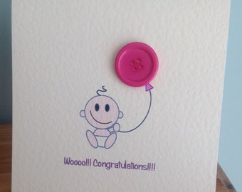Baby girl card.....wooooo!!! Congratulations!!!