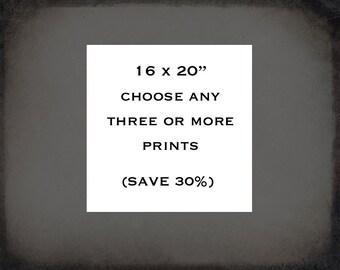 "16x20"", Photography Print Set, choose any 3 or more Photo Prints, Fine Art Photography, wall art, home decor, Save 30%"