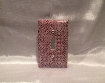 Toggle Switch Cover Plate: Burgundy and White Pattern