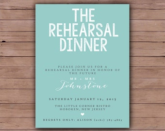 Printable Wedding Rehearsal Dinner - Rehearsal Dinner Invitation - Printable Wedding Invitation - 112
