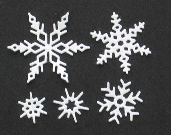 Snowflakes, Snowflake Shapes, Snowflake Die Cuts, Winter Die Cuts, Scrapbook Die Cuts, Die Cut Shapes, Die Cuts, Scrapbooking, Card Making