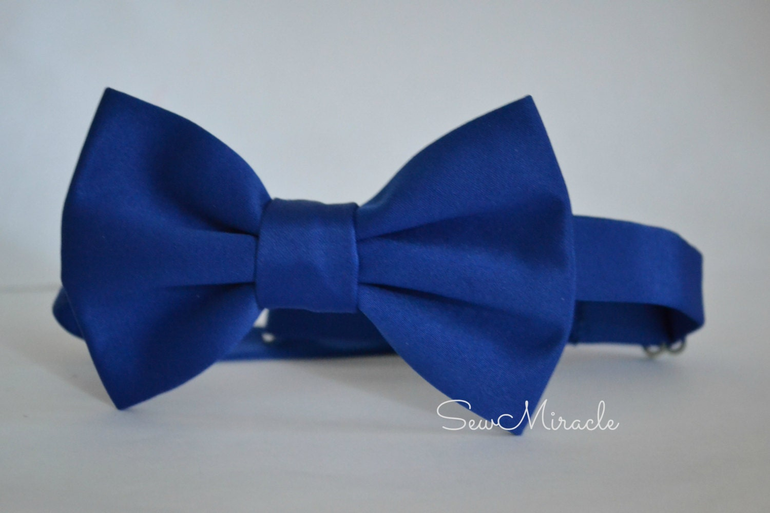satin bow tie royal blue colour pocket square s by