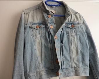 Denim Jeans Jacket,blue Jeans,destroyed Look,short Jeans Jacket