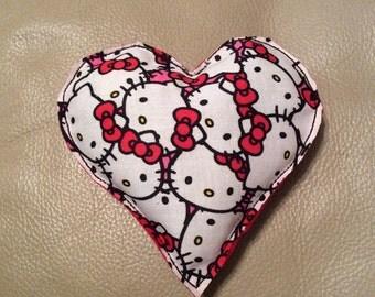 Hello kitty heart - handmade organic catnip toy