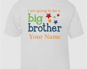 Personalised IM Going To Be A Big Brother T-Shirt Boys Girls Top Age Size Kids