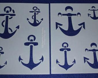 """2 Anchor Set  8"""" x 10"""" - Stencil-  14 Mil  Myler"""