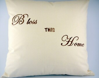 Custom Stenciled Pillow Cover-GREAT GIFT IDEA!