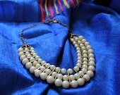 Chunky Pearl Bib / Statement Necklace