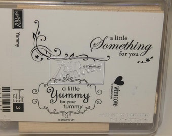 Stampin' Up! Retired Yummy wood mount