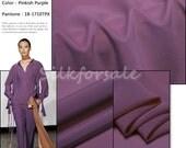 "Pinkish Purple 100% Mulberry Silk Pure Silk Crepe De Chine Fabric 14MM Width45"" 48Colors 1Yard -- 14cdc009"
