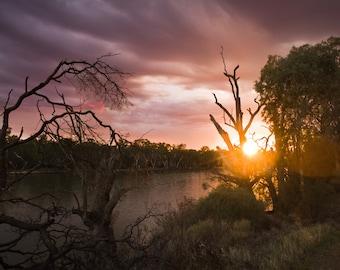 Murray River Sunrise, Landscape - Photography Fine ART print