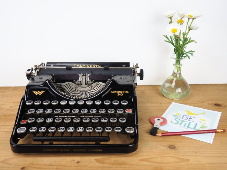machine crire vintage 340 continental des ann es 30 par mytypes. Black Bedroom Furniture Sets. Home Design Ideas