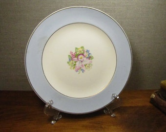 Vintage Royal China Small Plate - Bue Orchid