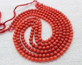 Natural Italian Red Coral Plane Roundlle Beads Italy Making 5X6MM 18''Inch Top Quality On Whole Sale Price.