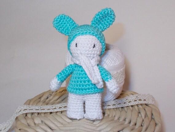 Amigurumi Small Doll : Amigurumi small crochet doll small toy gift by ecowickerwork